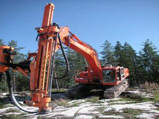 Геологоразведочные работы в процессе