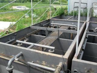 Разборная установка механической очистки сточных вод.