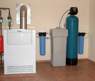 Простейший способ подключения системы водоподготовки и ионного обмена.