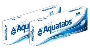 Упаковка таблеток для обеззараживания воды Акватабс.