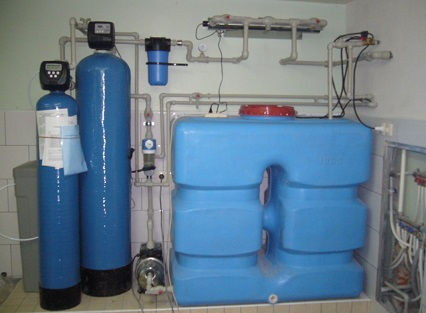 Аэрационный бак в комплексе с системой водоснабжения и очистки.