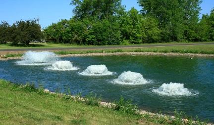 Пример применения способа аэрации для открытого водоема.