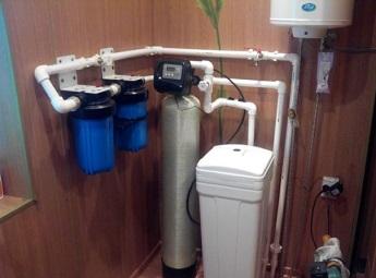 Пример расположения оборудования для очистки воды.