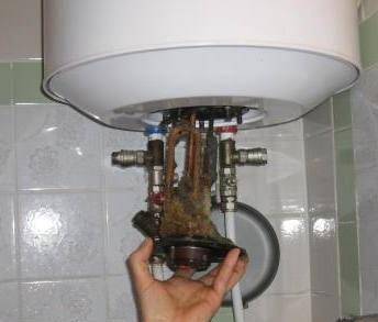 Последствия использования загрязненной воды для водонагревателя.