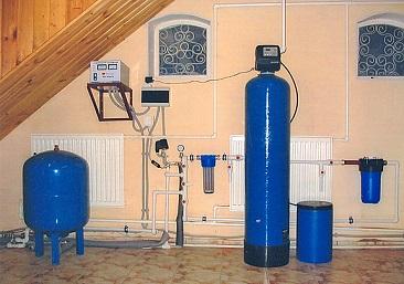 Пример размещения оборудования для очистки воды.