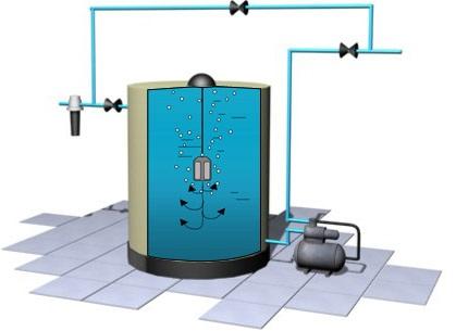 Примерная схема подключения устройства для аэрации и насоса.