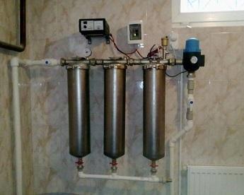 Распространенная схема расположения мини-фильтров для очистки воды.