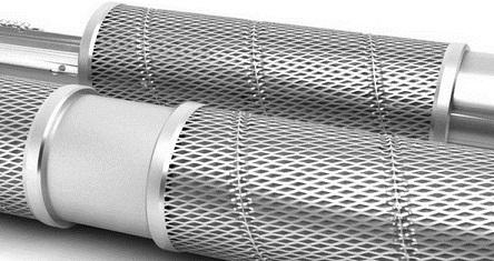 Стальной скважинный фильтр из трубы.
