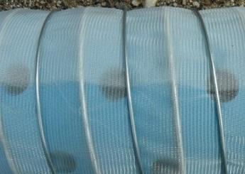 Скважинный НПВХ-фильтр с сеткой.