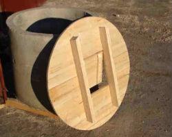 Простейшая деревянная крышка для круглого колодца