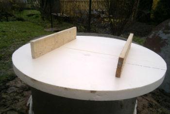 Самодельное утепление для крышки на колодец, из пенопласта4
