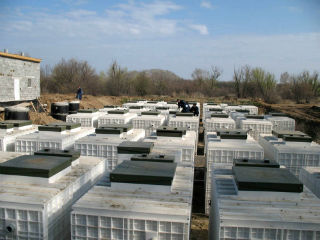 Мобильные резервуары для биологической очистки сточных вод.