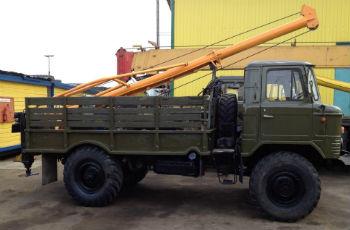 Традиционная и простейшая по своей конструкции схема - ямобур на базе автомобиля ГАЗ 66