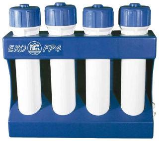 Четырехступенчатая установка с картриджными фильтрами и возможностью их замены