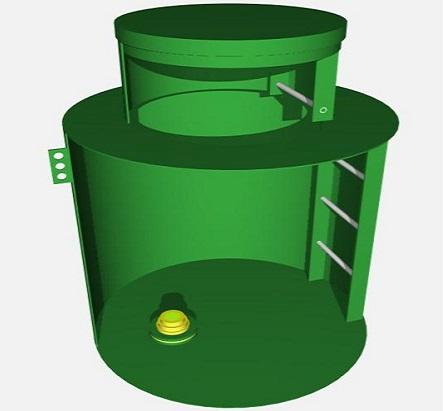 Пластиковый кессон с лестницей для скважины