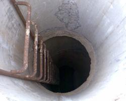 Лестница из скоб для колодцев из бетонных колец
