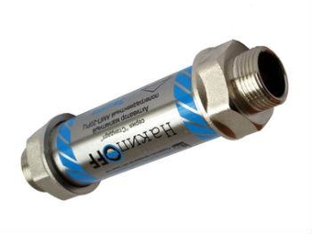 Простейший резьбовой магнитных умягчитель на ветку трубопровода