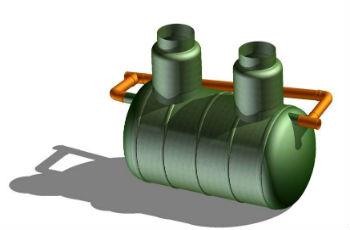 Схема стандартного нефтеуловителя или нефтяной ловушки