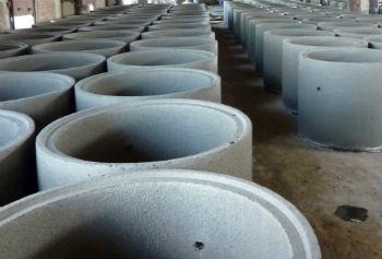 Железобетонные колодезные кольца на производстве