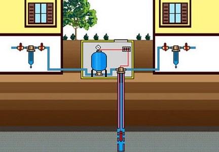 Схема водоснабжения двух домов из одной скважины