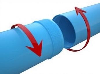 Соединение пластиковых обсадных труб для скважины
