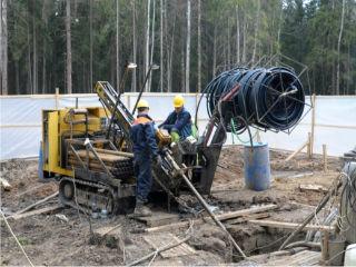 Процесс установки геотермального теплового насоса