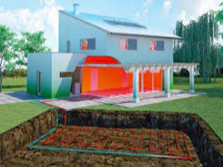 Схема горизонтальнго геотермального теплового насоса
