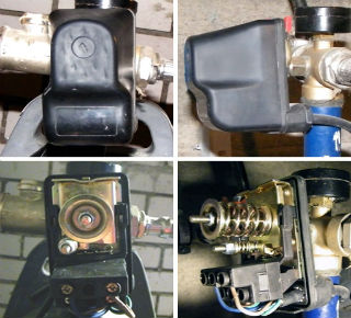 Конструкция стандартного реле давления для поверхностных насосов