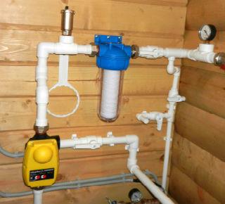 Пример установки электронного реле давления в систему водоснабжения