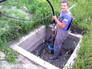 Установка погружного центробежного насоса в обсадную трубу скважины
