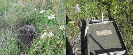 Скважина до (слева) и после (справа) проведения тампонажа
