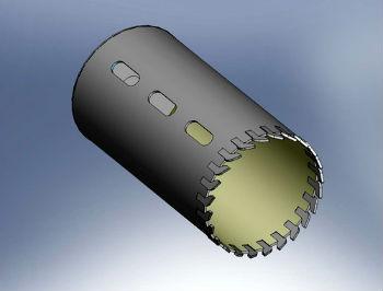 Схематические изображение стандартной коронки для бурения скважин
