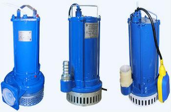 Стандартная конструкция погружного дренажника, с металлическим корпусом, фильтром и поплавковым выключателем