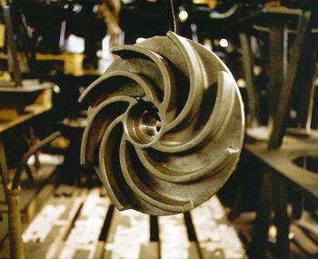 Рабочее колесо центробежного насоса, поверхностного типа