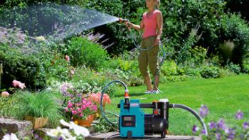 Мобильный насос для полива растений