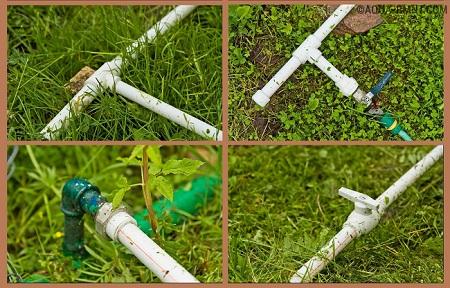Не разборной водопровод из пластиковых труб