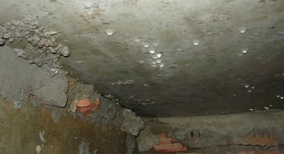 Конденсат на потолке подвала без теплоизоляции