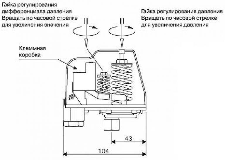 Как правильно подключить реле давления схема подключения
