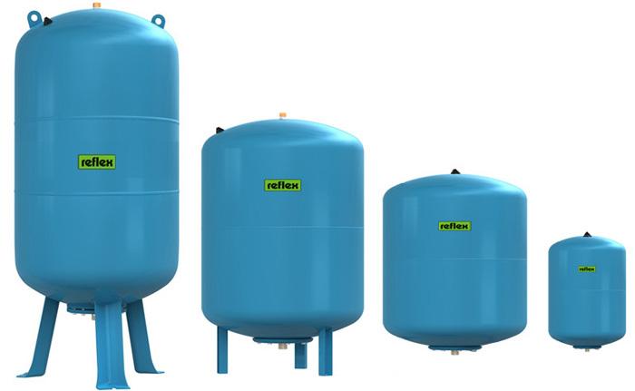 Гидроаккумулятор может иметь разную форму и объем