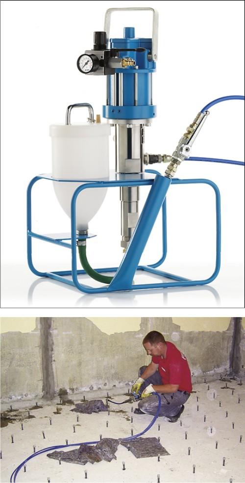 Инъекционный насос в строительных работах