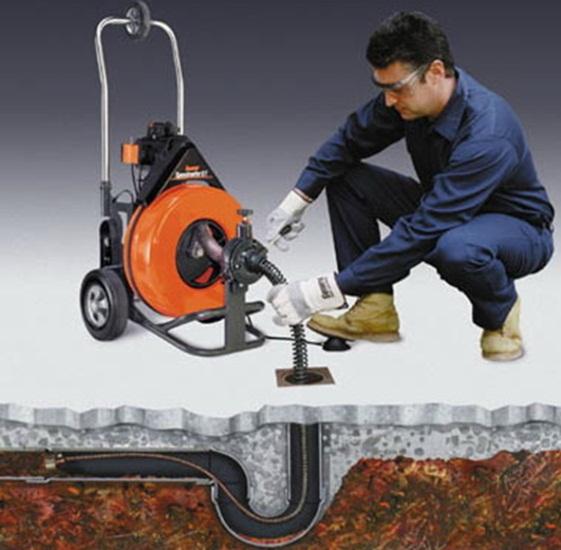 Машинка для чистки канализации барабанного типа