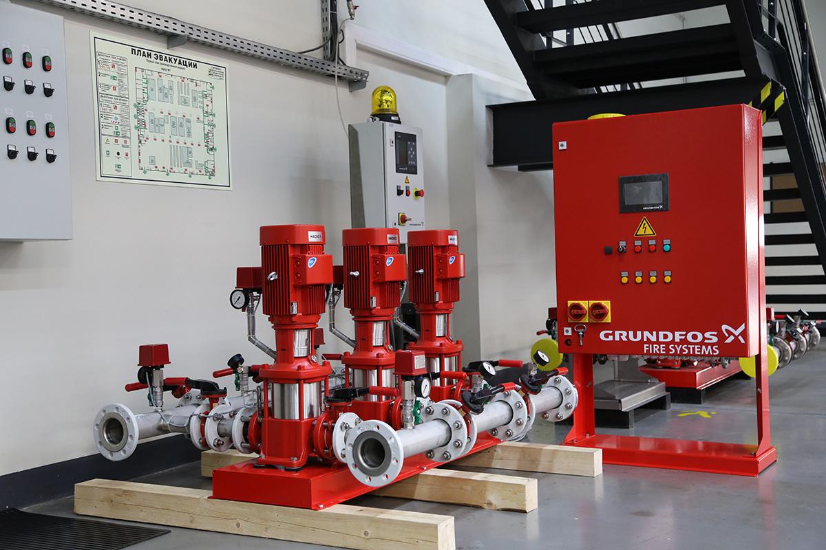 Насосная установка пожаротушения Grundfos Hydro MX