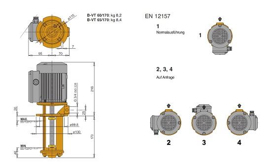 Схема насоса Calpeda B-VT