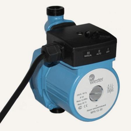 Повысительный насос для водоснабжения Wester WPA 15-90