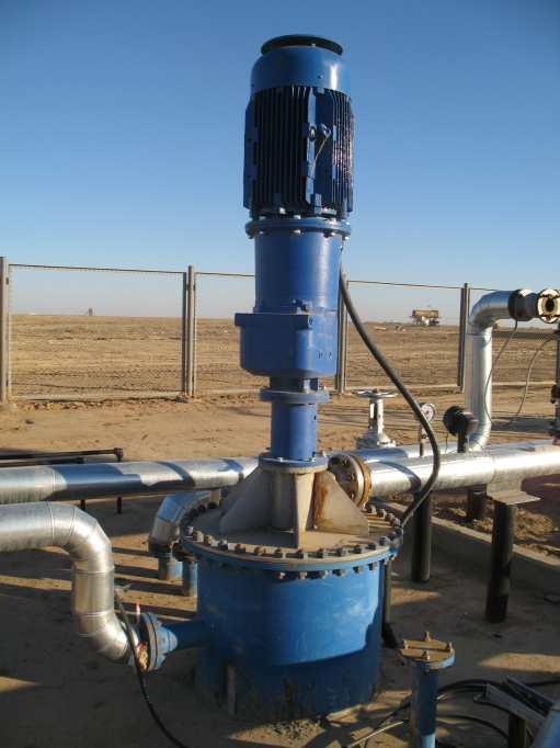 Вертикальный нефтяной винтовой полупогружной насос
