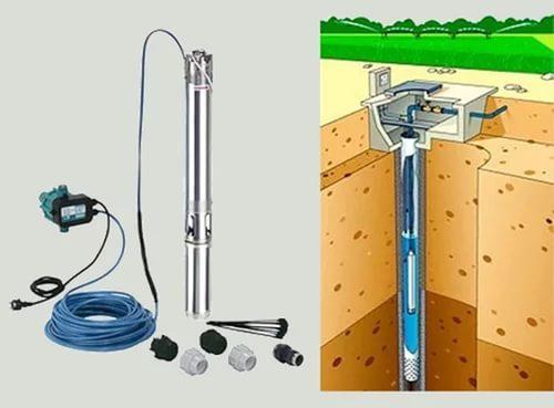 Схема установки глубинного скважинного насоса