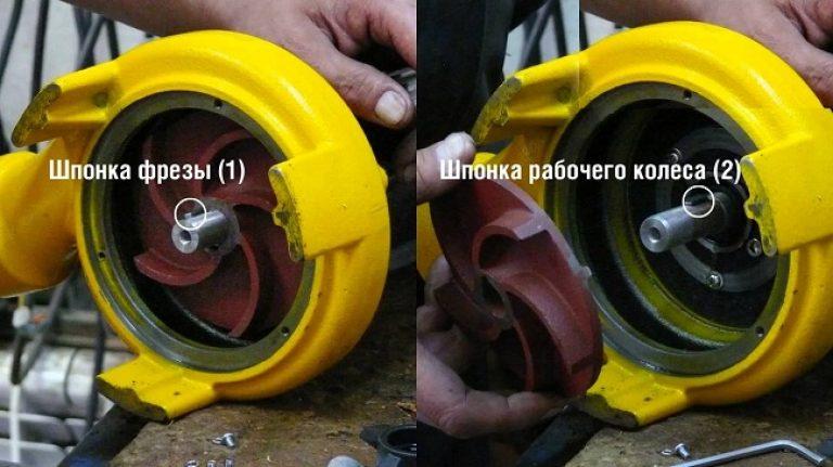Как снять рабочее колесо с дренажного насоса