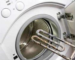 Последствия действия жесткой воды на стиральную машинку.