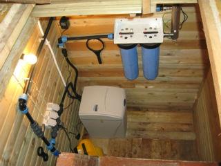 Схема подключения фильтра для умягчения жесткой воды.