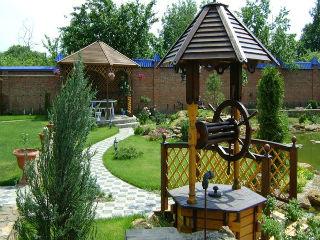 Колодец декоративный, деревянный шестигранный